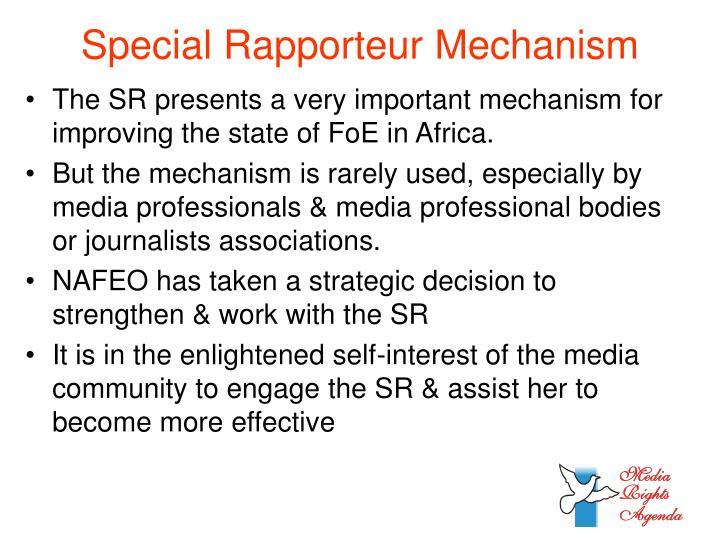 Special Rapporteur Mechanism