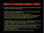 klasici u sociologiji religije2 weber