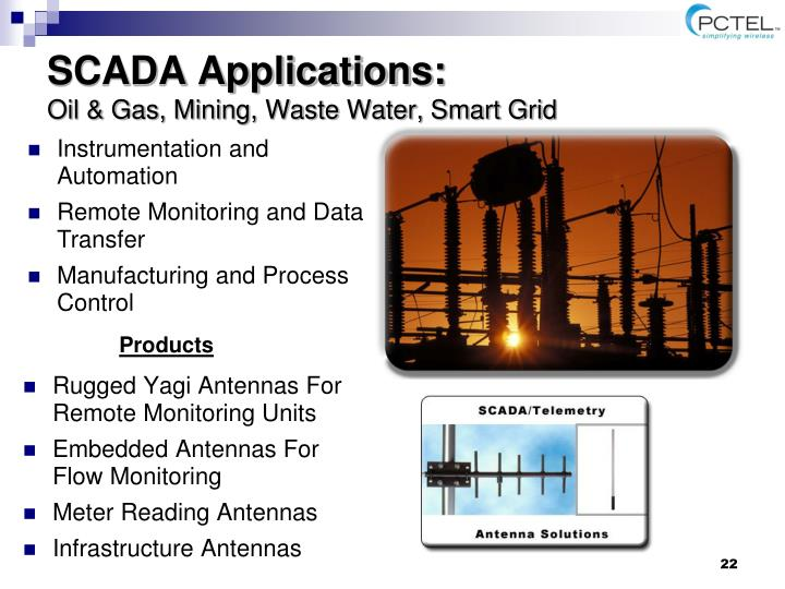 SCADA Applications: