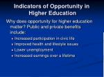 indicators of opportunity in higher education3