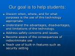 our goal is to help students