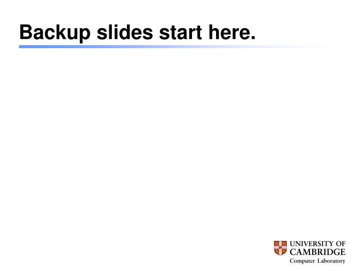Backup slides start here.