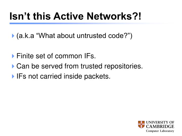 Isn't this Active Networks?!