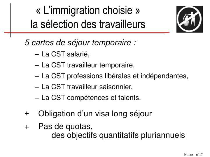 «L'immigration choisie»