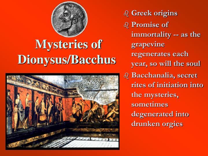 Mysteries of Dionysus/Bacchus