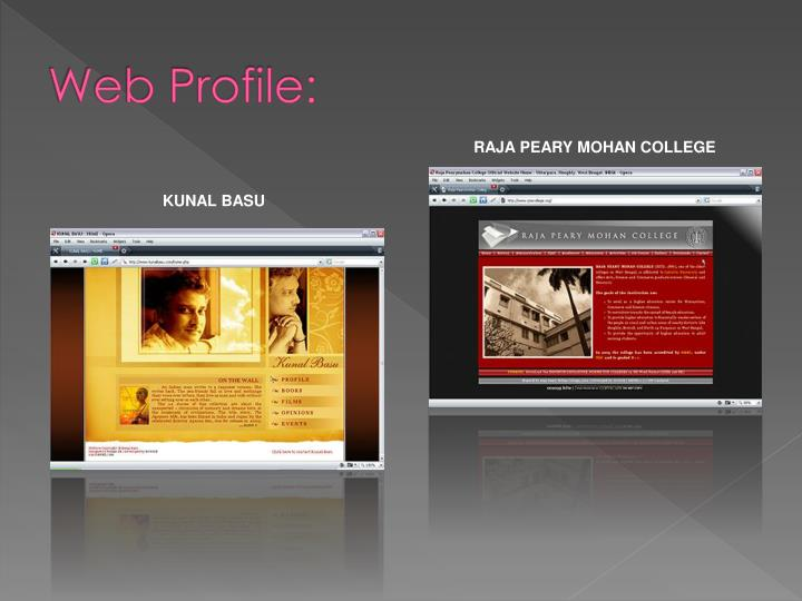 Web Profile: