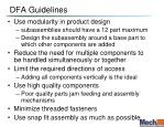 dfa guidelines