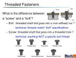 threaded fasteners