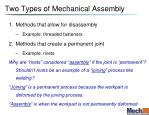 two types of mechanical assembly