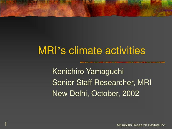 mri s climate activities n.