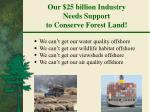 our 25 billion industry needs support to conserve forest land