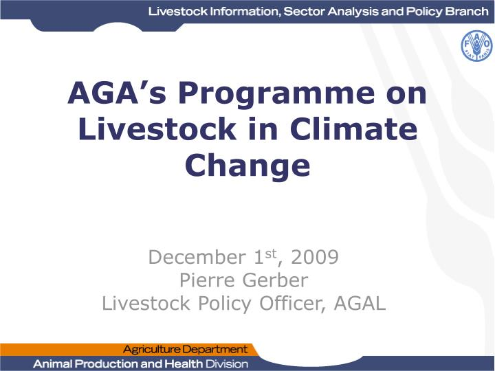 aga s programme on livestock in climate change n.