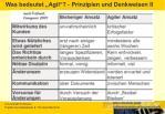 was bedeutet agil prinzipien und denkweisen ii