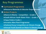 key programmes