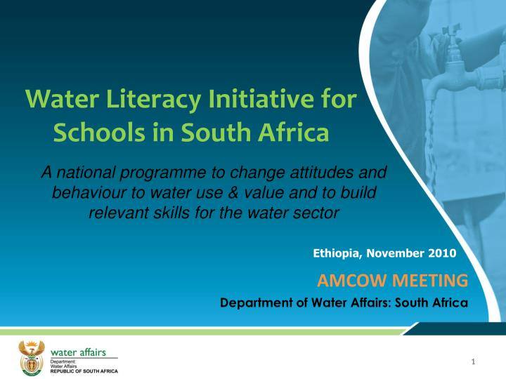 water literacy initiative for schools in south africa n.