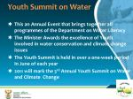 youth summit on water