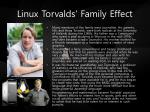 linux torvalds family effect