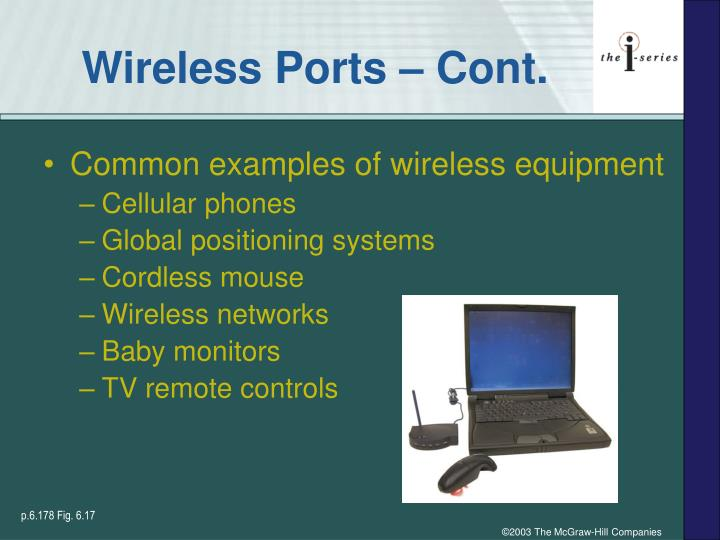 Wireless Ports – Cont.