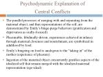 psychodynamic explanation of central conflicts3