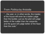from politica by aristotle