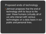 proposed ends of technology