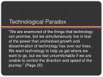 technological paradox
