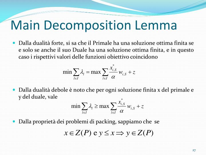Main Decomposition