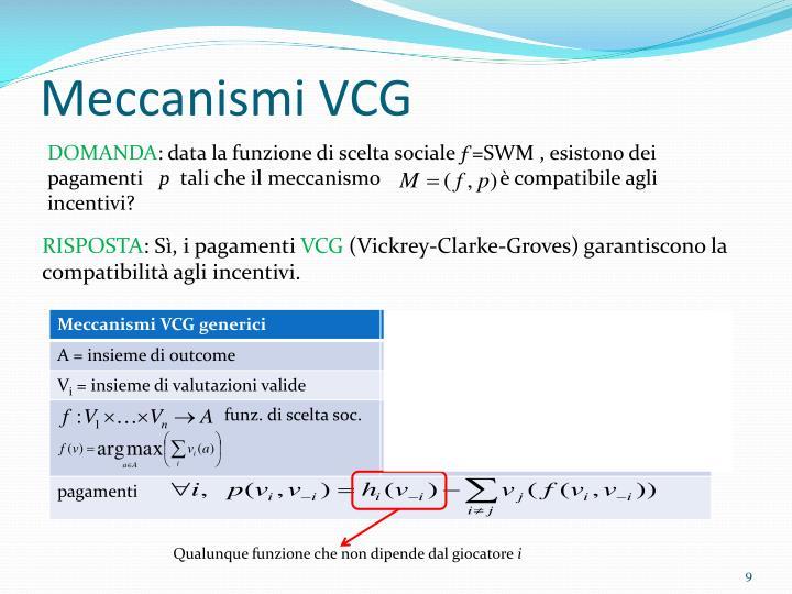 Meccanismi VCG