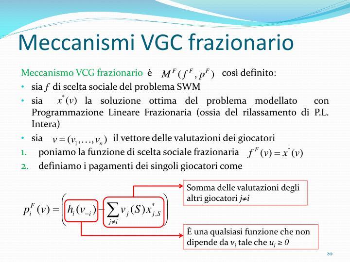 Meccanismi VGC frazionario