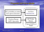 proposed soft error model