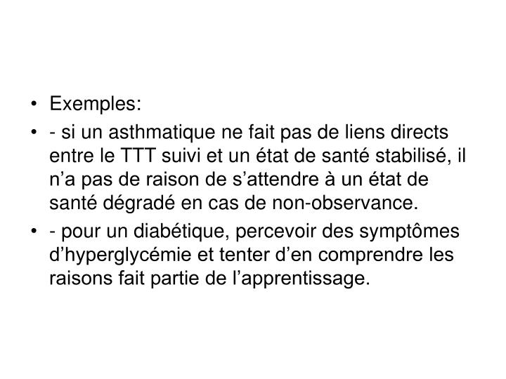 Exemples: