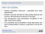 why six sigma