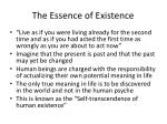 the essence of existence
