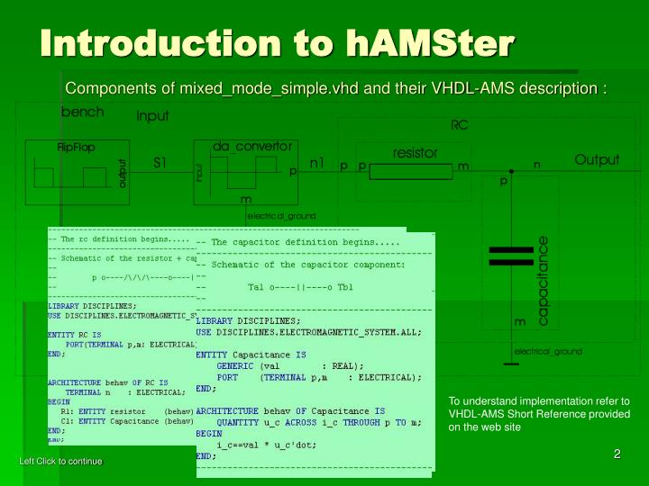 Introduction to hamster1