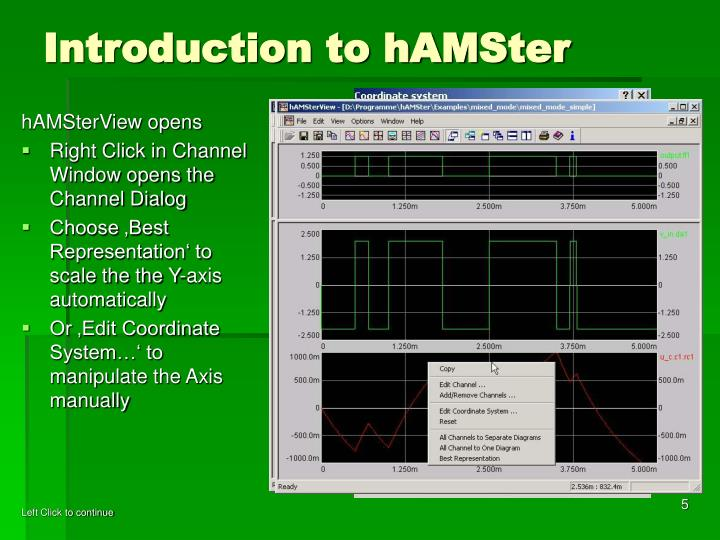 Introduction to hAMSter