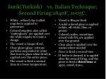 isnik turkish vs italian technique second firing 1840f 1005c