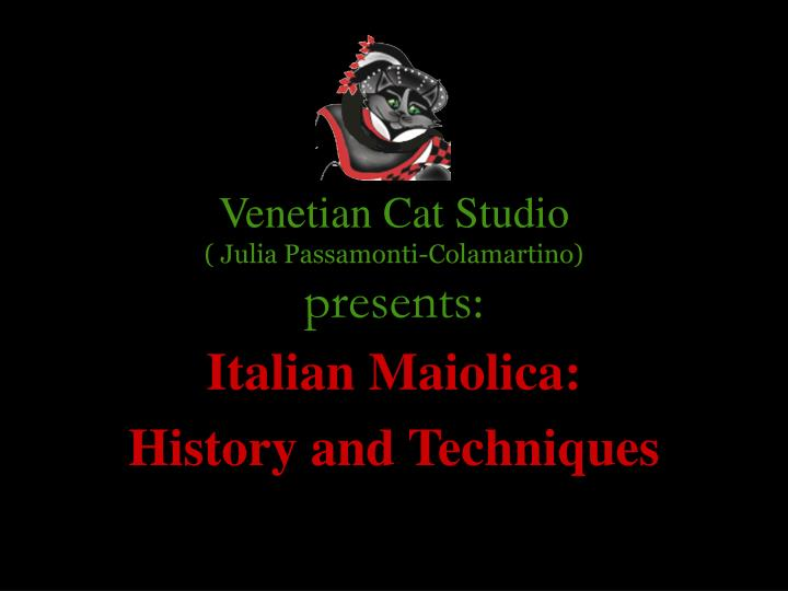 venetian cat studio julia passamonti colamartino presents n.