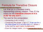 formula for transitive closure