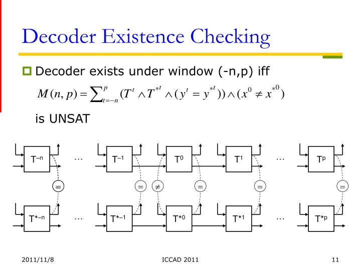 Decoder Existence Checking