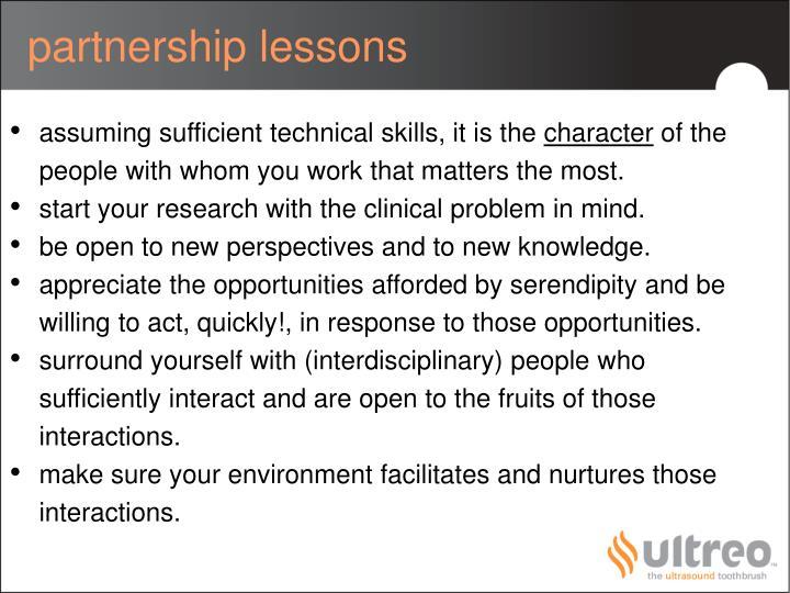 partnership lessons