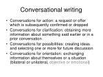 conversational writing