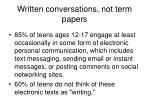 written conversations not term papers