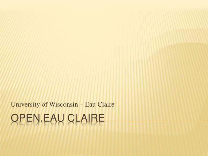 university of wisconsin eau claire n.