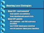 hearing loss etiologies