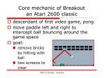 core mechanic of breakout an atari 2600 classic