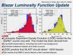 blazar luminosity function update