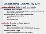 deciphering gamma ray sky