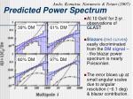 predicted power spectrum