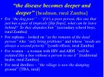 the disease becomes deeper and deeper headman rural zambia