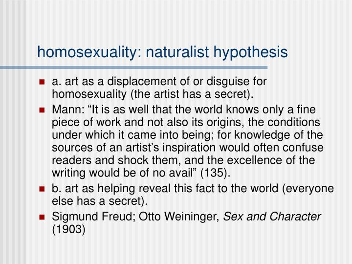 homosexuality: naturalist hypothesis